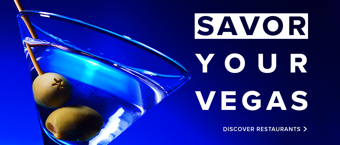 Savor your Vegas discover restaurants with martini glass with olives