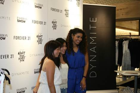 Jordan Sparks poses with fans at an event at Fashion Show